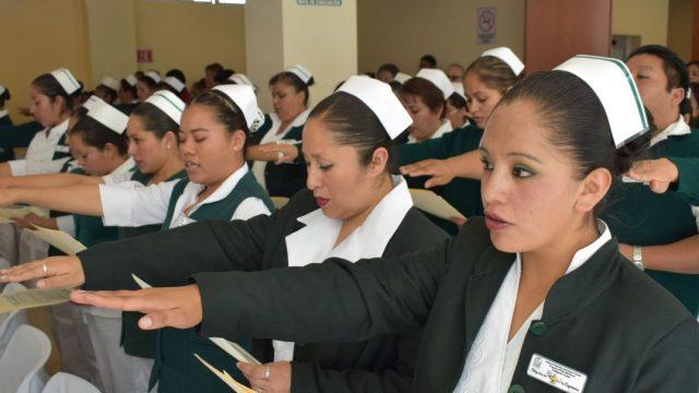 Imagen: Un grupo de enfermeras del IMSS, 21 de octubre de 2019 (Imagen: Especial)
