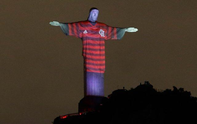 Imagen: El Cristo Redentor con los colores del Flamengo, 26 de noviembre de 2019 (Imagen: Especial)