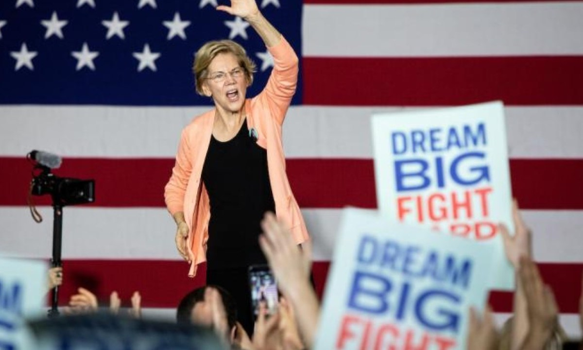 Imagen: La política estadounidense Elizabeth Warren, 13 de noviembre de 2019 (Imagen: Especial)