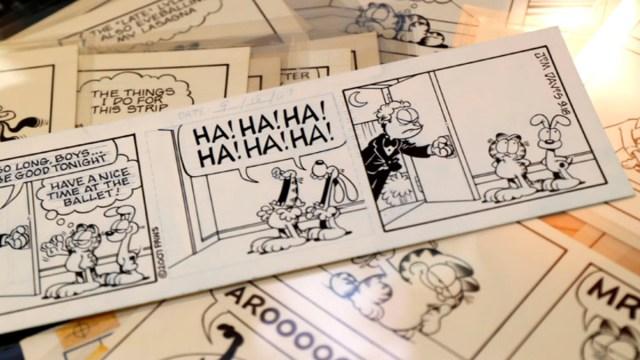 29 de diciembre 2019, Subasta de historietas de Garfield, Tiras cómicas, Garfield, Historietas, Humor