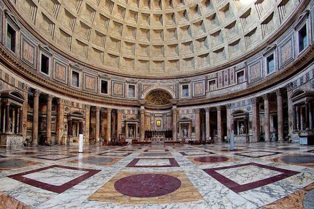 4 de enero de 2020 mármol, objetos del deseo, Interior del panteón de Roma (Imagen: Especial)