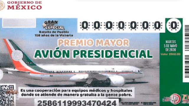 28 de enero 2020, cachito, lotería, avión, presidencial