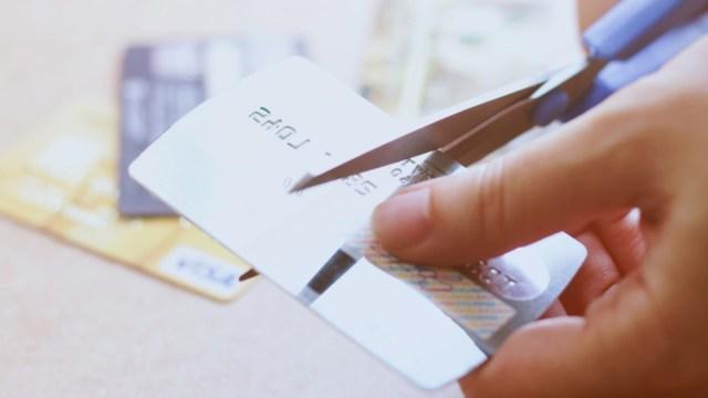 27 de enero 2020, Cancelar tarjeta de crédito, Tarjetas de crédito, Tijeras, Plástico, Cancelación de tarjeta