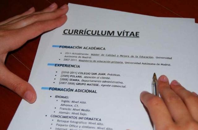 Vacante laboral, Trabajo, Empleo, Currículum, CV, Currículum Vitae, Información Personal