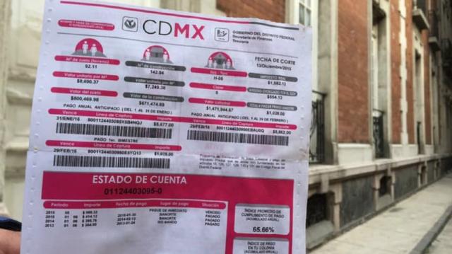 15 de enero 2020, Pago de Predial México, Recibo, Estado de Cuenta, Predial, Impuestos
