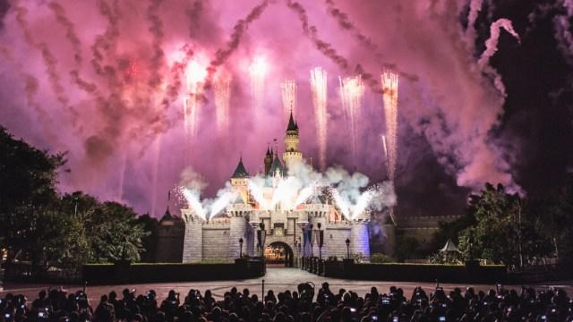 07 de enero 2020, Trabajo en los parques temáticos, Castillo, Disney, Disney World, Fuegos artificiales, persona