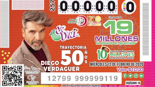 12 de febrero 2020, Premio Lotería Nacional, Lotería Nacional, Boleto, Concurso