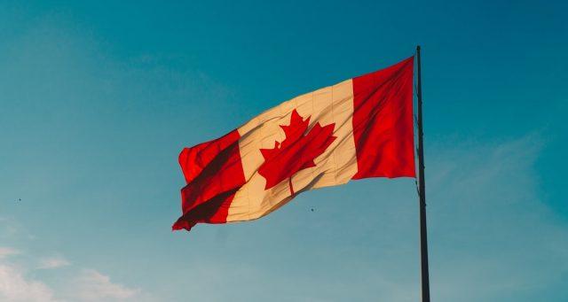 26 de febrero 2020, Viaje a Canadá, Canadá, Bandera, País, Vacaciones