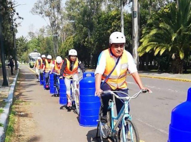 18 de febrero de 2020, ciclistas en la CDMX (Imagen: Twitter @LaSEMOVI)