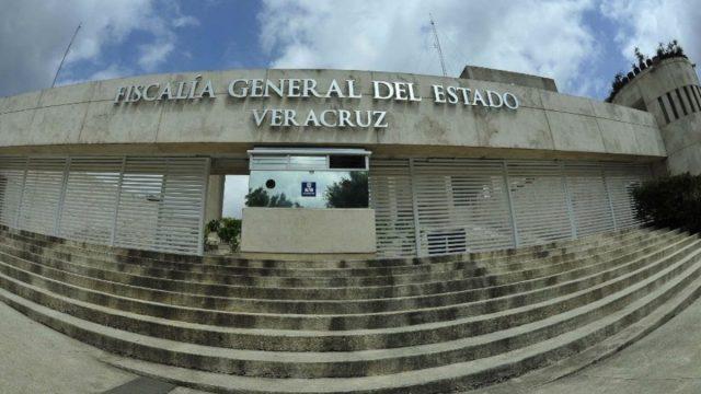 20 de febrero de 2020, fachada de la Fiscalía de Veracruz (Imagen: Twitter @veracruznlinea)