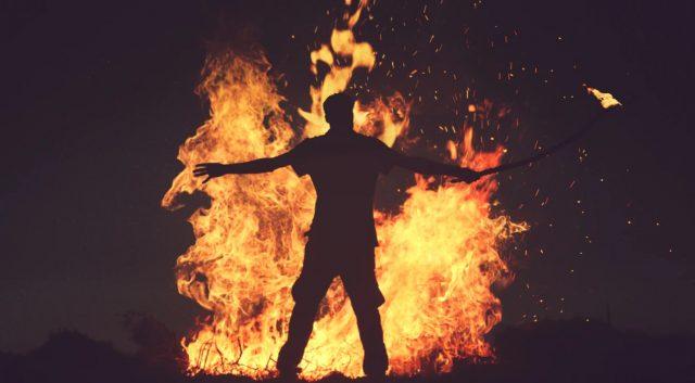 10 de febrero de 2020, las llamas de un incendio (Imagen: Unsplash)
