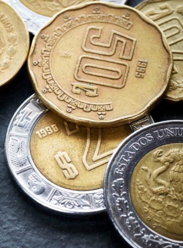 9 de marzo de 2020, monedas peso mexicano (Imagen: Twitter @pasionpina)
