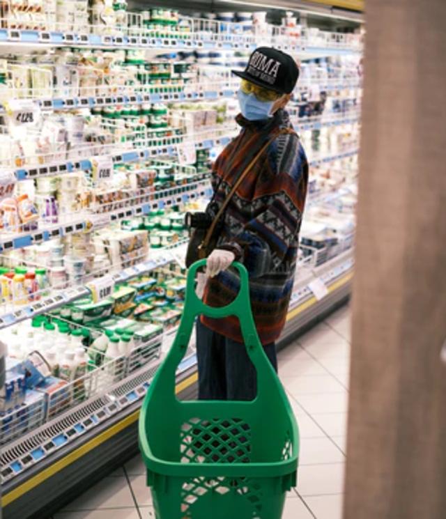 supermercado, compras de pánico, COVID