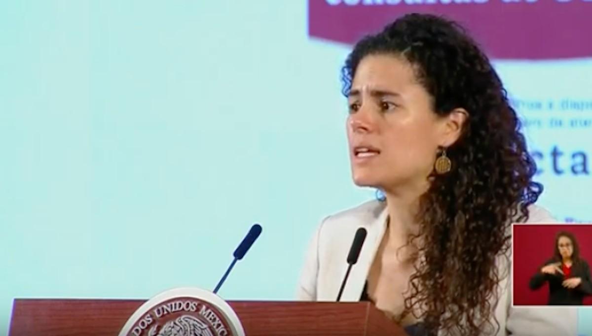 La titular de la Secretaría del Trabajo y Previsión Social (STPS), Luisa María Alcalde (Imagen: lopezobrador.org.mx)