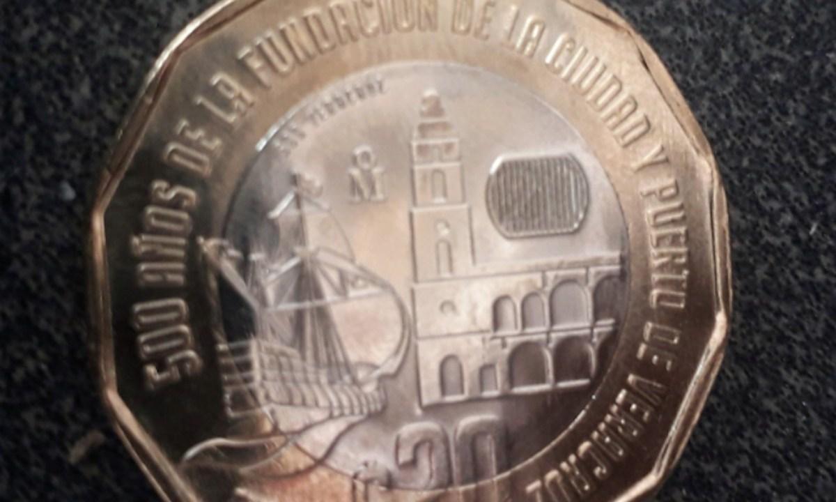Moneda de 20 pesos de Banxico (Imagen: Twitter @esquivelgerardo)