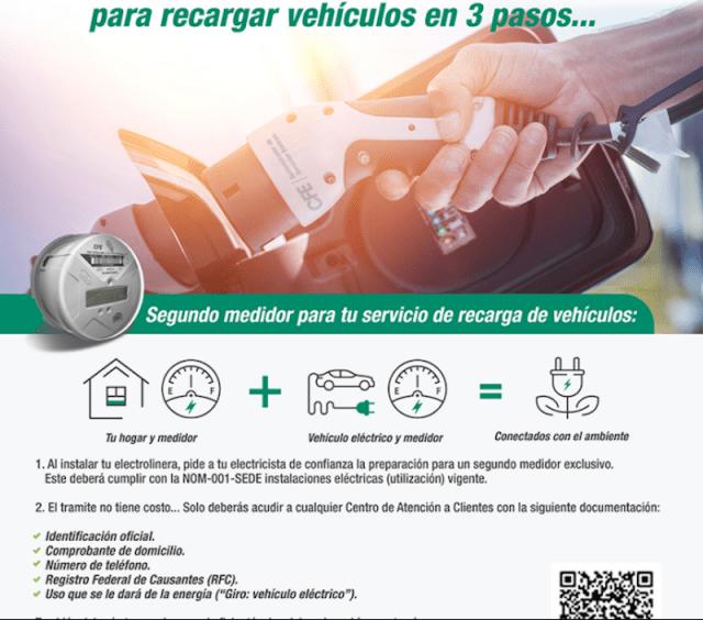 Carga de auto eléctrico en CFE (Imagen: Cfe.mx)