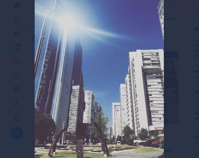 Panorámica de edificios en Santa Fe, CDMX (Imagen: Twitter: @KikeKaram)