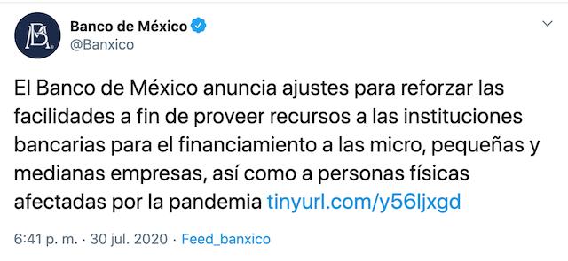 Comunicado Banxico