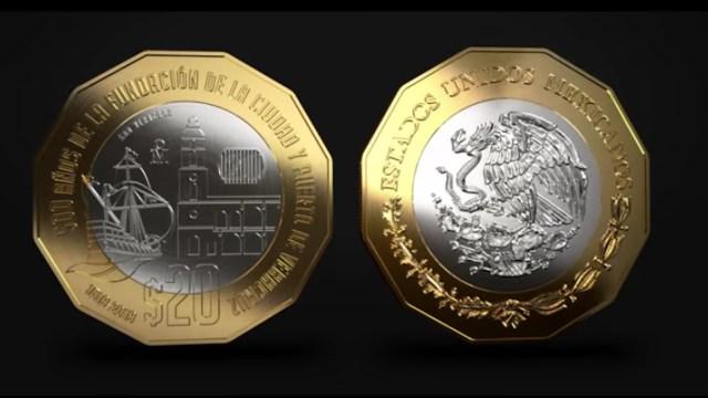 Nueva moneda de 20 pesos (Imagen: Banxico)