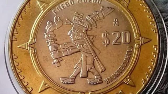Moneda 20 pesos del señor del fuego (Imagen: Mercado Libre)