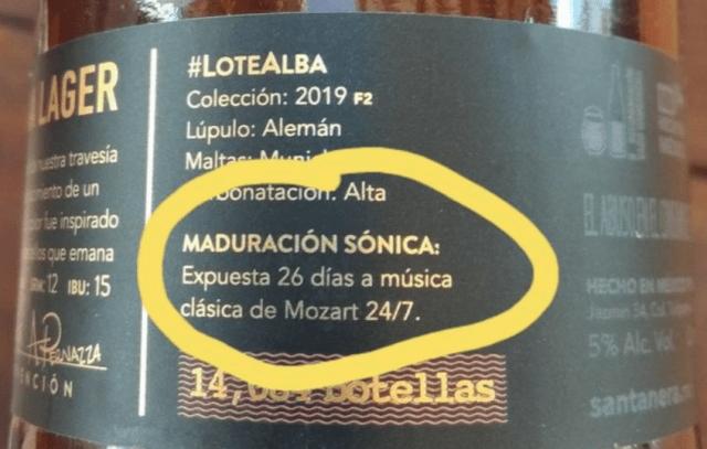 Cerveza expuesta a música de Mozart (Imagen: Twitter CuarentEibra @gomezeibra)