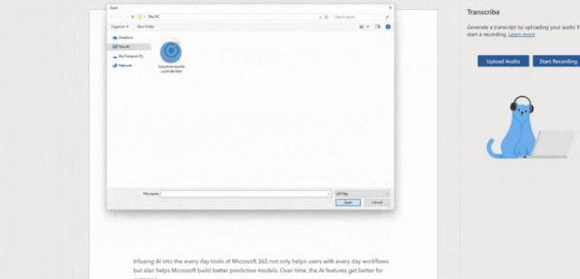 Comando de voz para transcribir (Imagen: Microsoft.com)