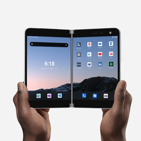 Surface Duo, Microsoft, Nuevo Celular, Lanzamiento, Doble Pantalla