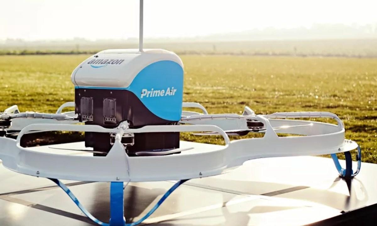 Drones de Amazon (Imagen: Twitter @CNETNews)