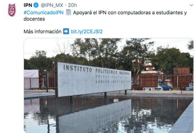 Escuela del IPN (Imagen: Twitter @IPN_MX)