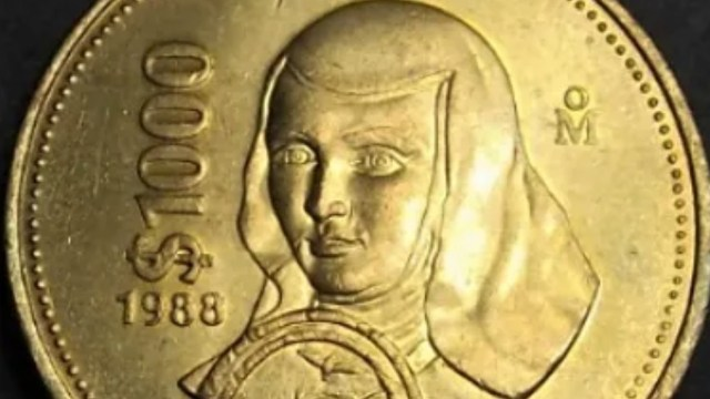 Moneda de colección de Sor Juana (Imagen: Mercado Libre)