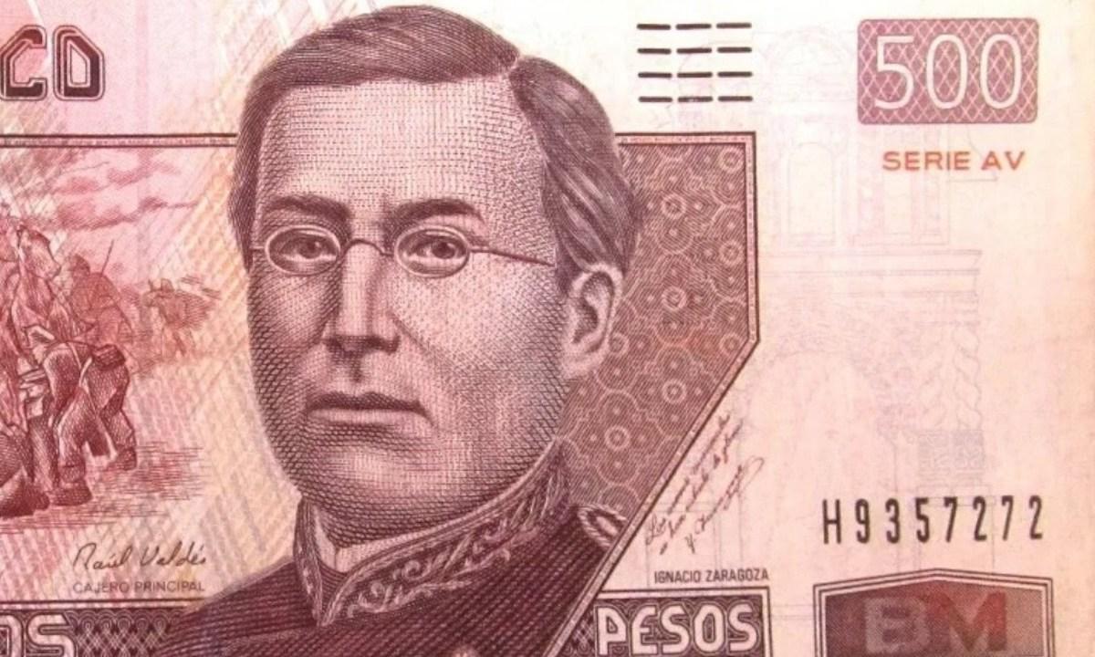 Billete de 500 pesos de Ignacio Zaragoza (Imagen: Twitter @AntoniLooquendo)