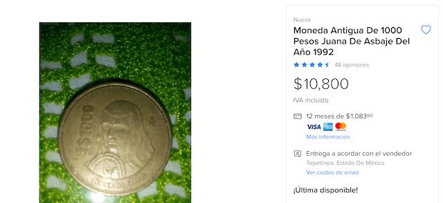 Moneda Sor Juana dde Asbaje