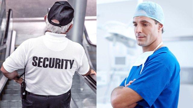 Guardia de seguridad y médico están entre las vacantes de trabajo disponibles durante la pandemia