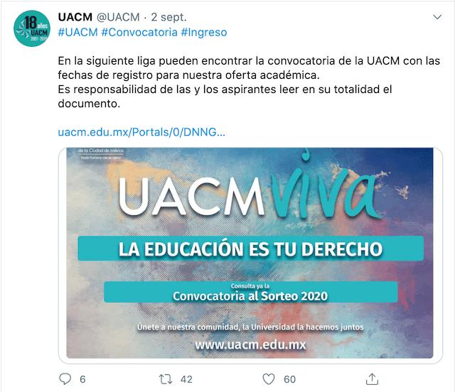 Convocatoria UACM