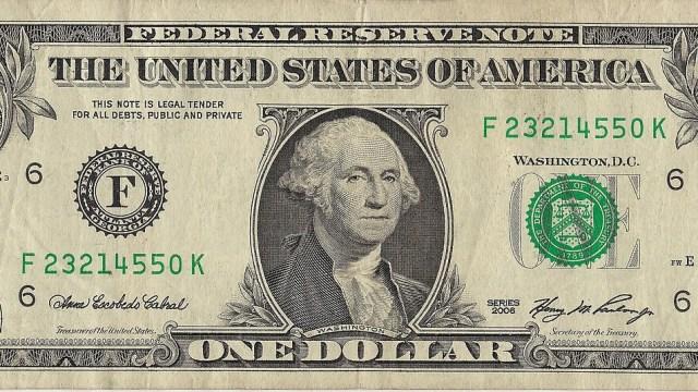 Billete de dolar, precio del dólar