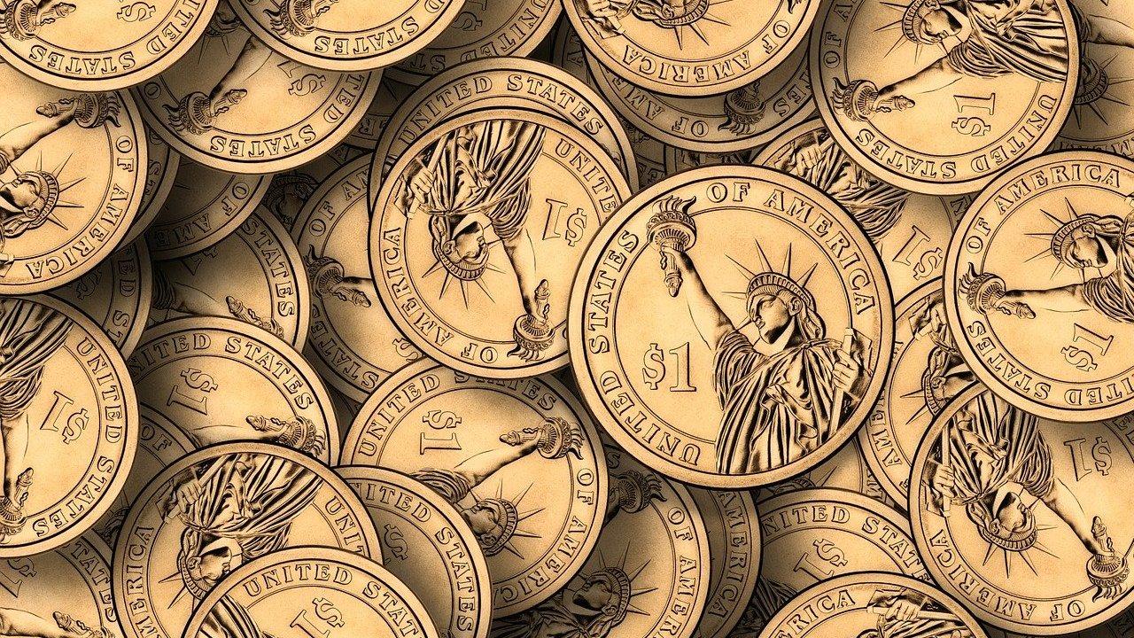 Monedas de dólar, dólar hoy, precio del dólar