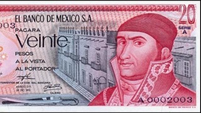 Billete de 20 pesos de Morelos se vende en más de mil pesos