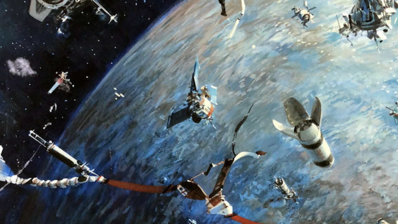 Ilustración de basura espacial de la revista Life de 1979 (Imagen: Twitter @70sscifi)