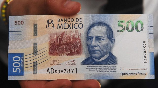 Billete de 500 pesos de Benito Juárez se vende en casi 28 mil pesos