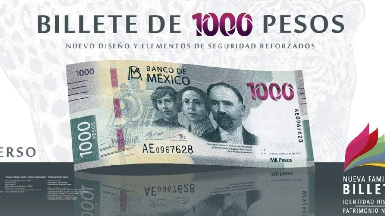Características del nuevo billete de mil pesos que vale más de 7 mil pesos