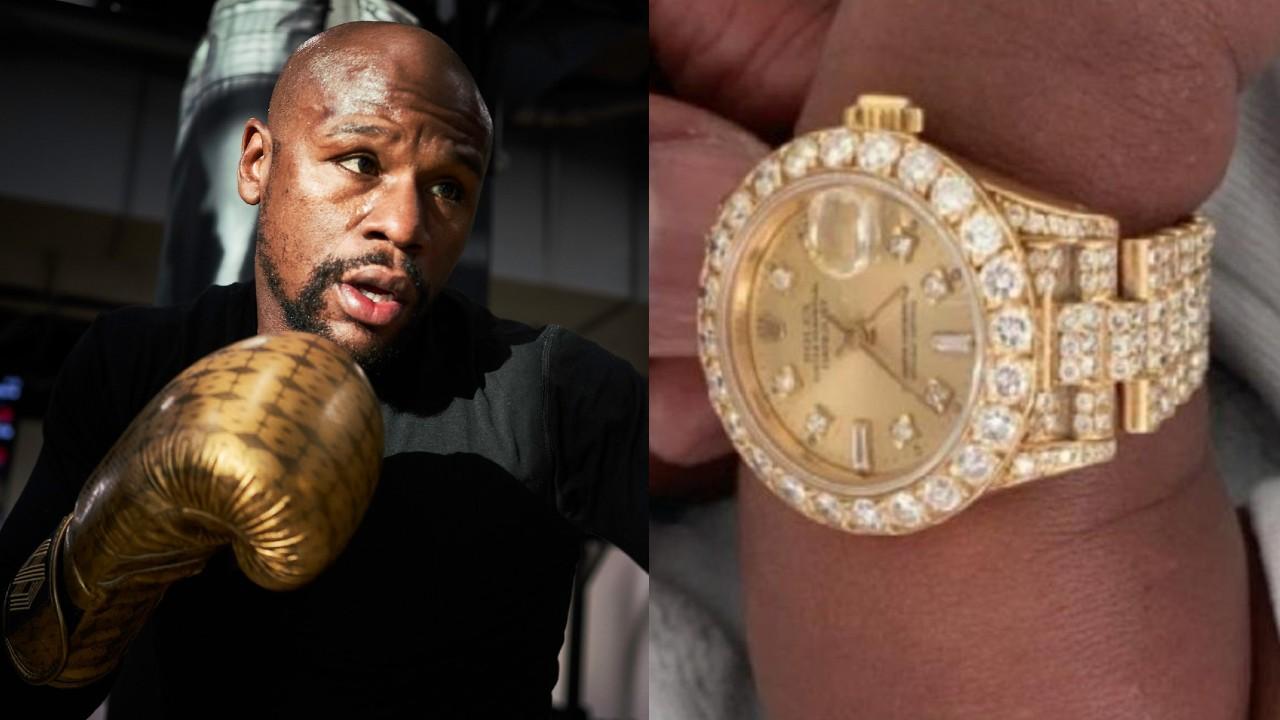 Esto vale el reloj de diamantes que Mayweather le regaló a su nieto recién nacido