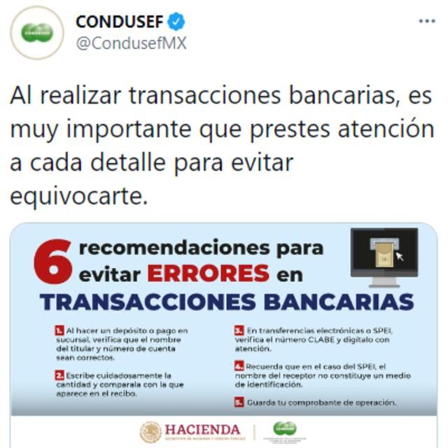 La Condusef suele dar tips financieros a través de sus redes sociales