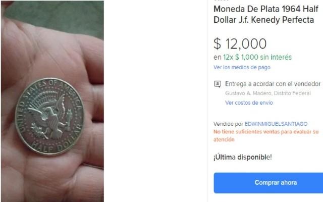 Esta es la moneda de 50 centavos que se vende en 12 mil pesos