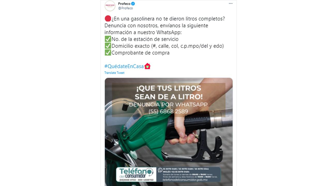 Puedes denunciar gasolineras que roban gasolina