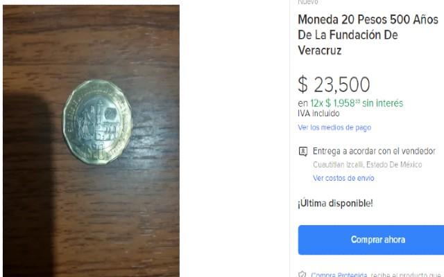 Así se ve la oferta de la moneda de 20 pesos