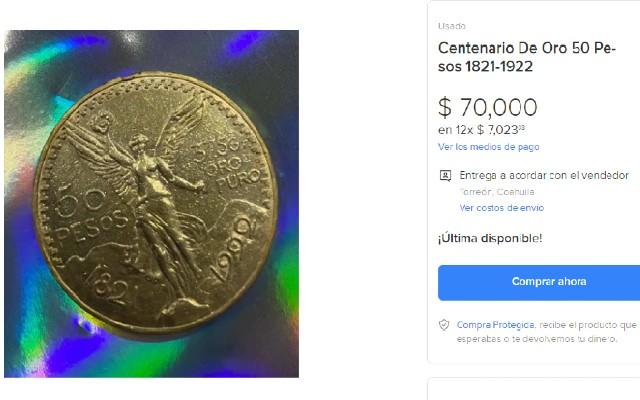 Este es el centenario que se vende en 70 mil pesos