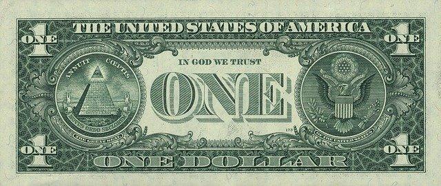 Este es un lado del billete de un dólar