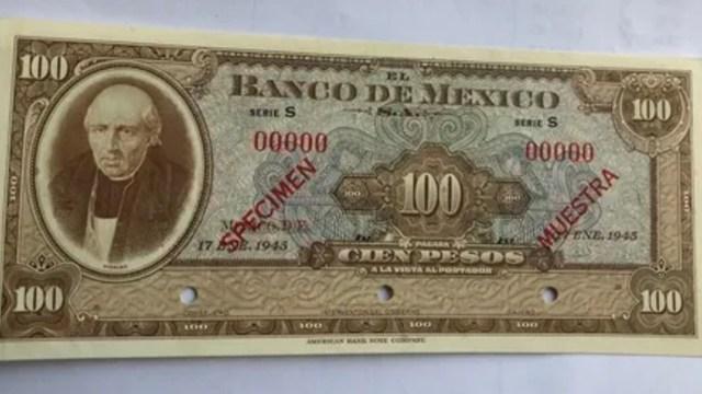 Este billete de 100 pesos se vende en casi 6 mil pesos