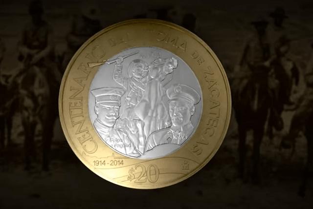 Moneda de 20 pesos, Centenario de la toma de Zacatecas