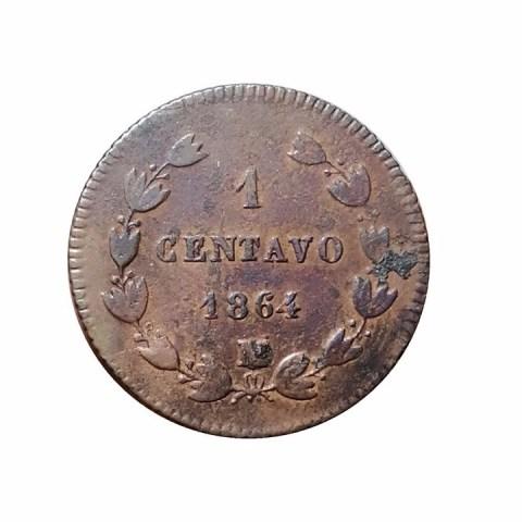 Esta moneda de 1 centavo que circuló durante el Imperio de Maximiliano cuesta 15 mil pesos